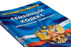 Семейный кодекс РФ, регламентирующий порядок начисления алиментов