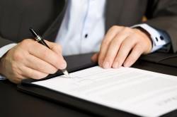 Подписание соглашения об уплате алиментов